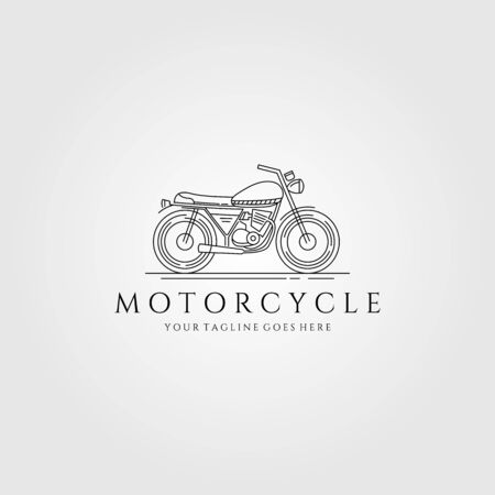 motorcycle line art logo vector minimalist illustration design