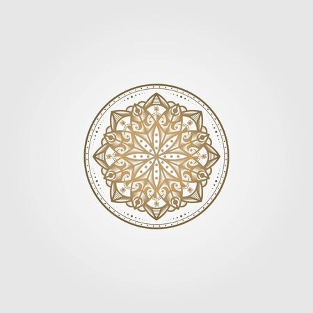 vintage mandala circle vector ethnic culture illustration design