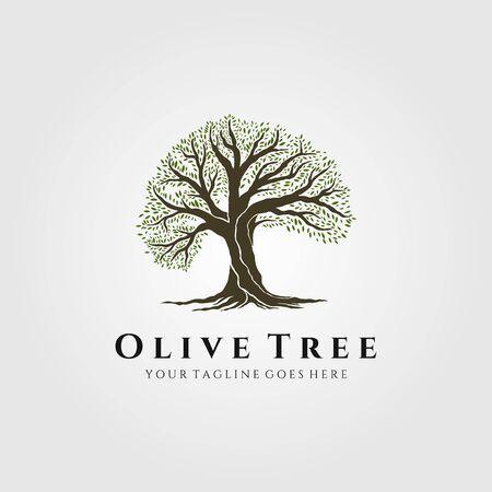 vintage tree nature logo vector illustration design Çizim