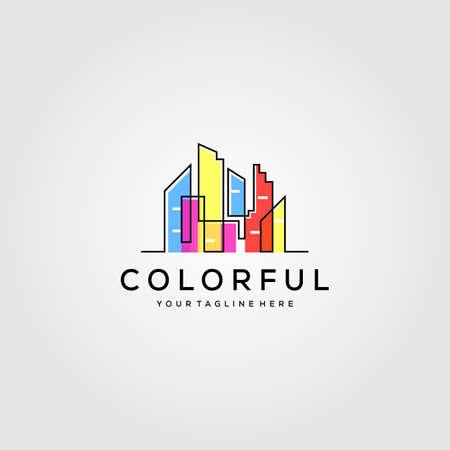 colorful building logo vector illustration design