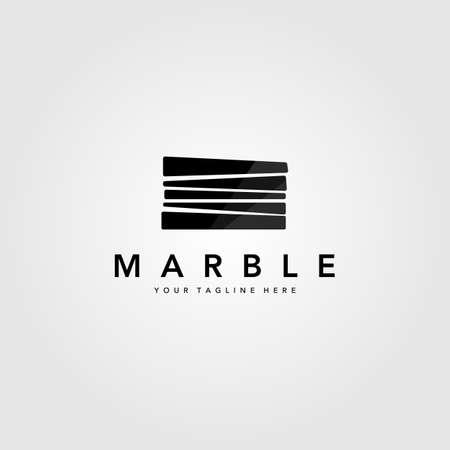 minimalist pile marble stone logo vector illustration design 向量圖像