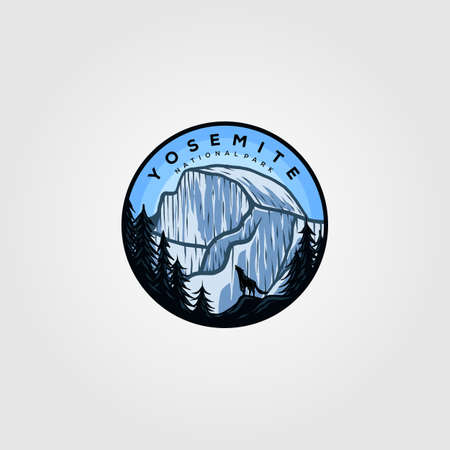 yosemite logo badge vintage illustration design