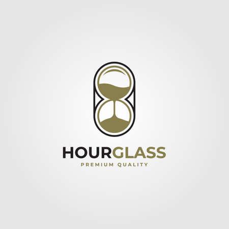 hourglass line art vector minimalist illustration design Illusztráció