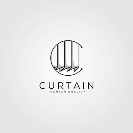 curtain  letter c symbol line art vector illustration design Illusztráció