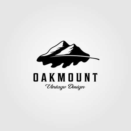 Oakleaf mountain logo vintage vector illustration design Illusztráció