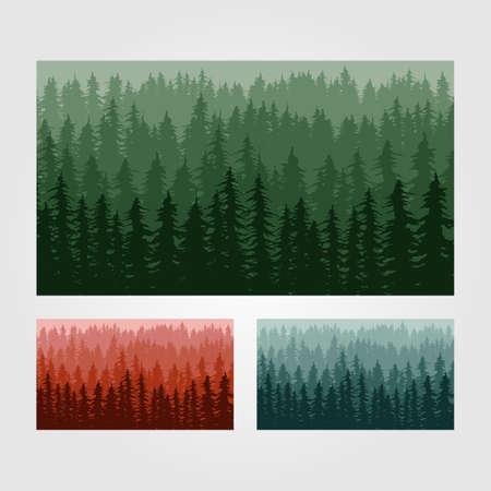 pine tree forest background template illustration design