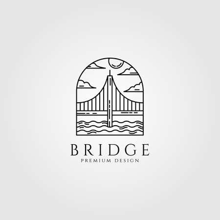 bridge minimal line art vector illustration design Illusztráció