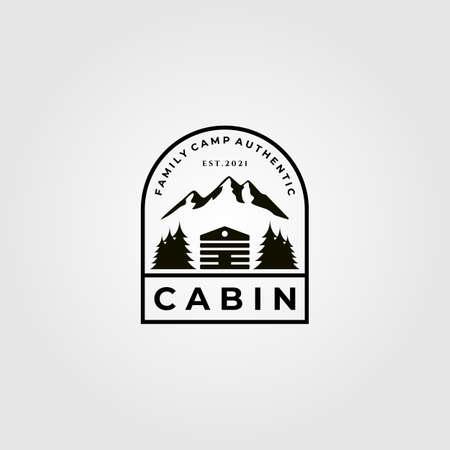 cabin minimalist vector illustration design