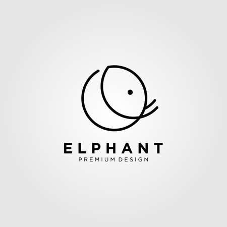 line art elephant circle vector illustration design Illusztráció
