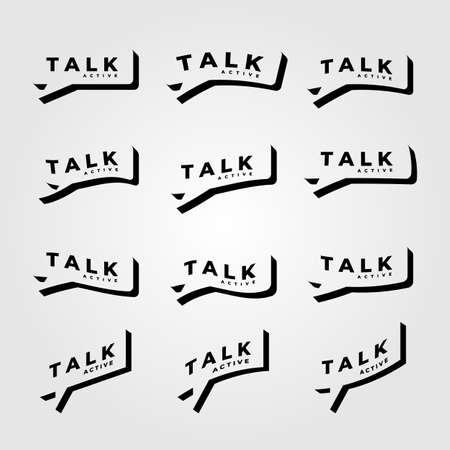 talk symbol minimalist vector illustration design