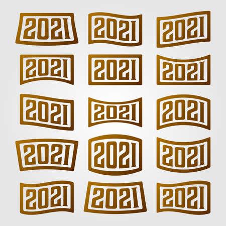 month logo symbol vintage vector set illustration design Illusztráció