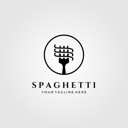 spaghetti pasta vector minimalist illustration design