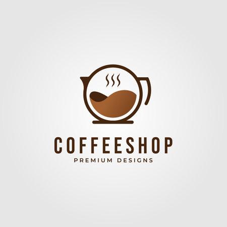 minimalist coffee shop vector illustration design
