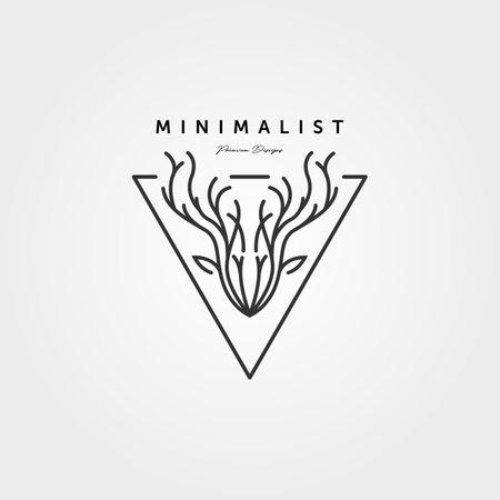 dear head line art   vector minimalist illustration design