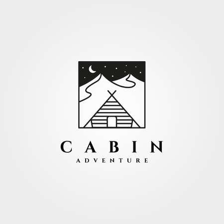 cabin icon vector design