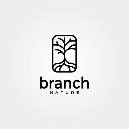 vintage pines emblem logo vector symbol minimalist illustration design Banque d'images - 164130603