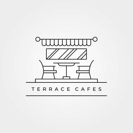 terrace icon line art logo vector minimalist illustration design