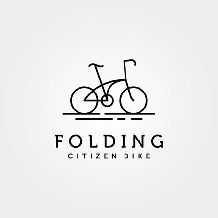 folding bike logo line art vector symbol illustration design Illustration
