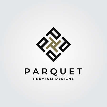 parquet flooring logo initial letter p vector symbol illustration design Illustration