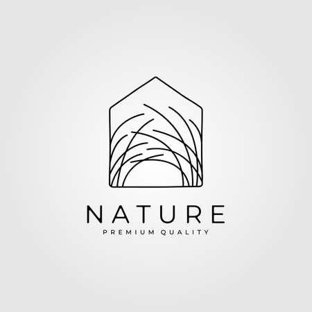 reeds house clever logo minimalist vector illustration design