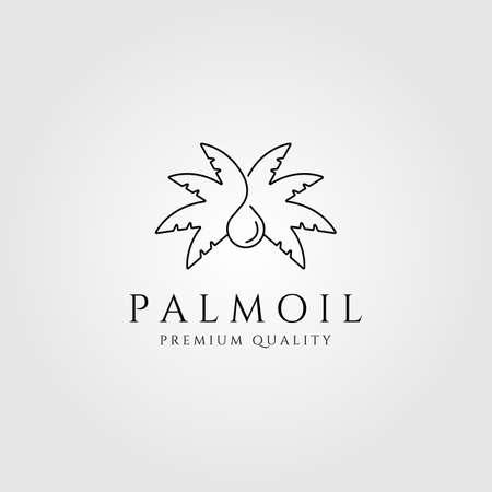 palm oil line art logo minimalist vector symbol illustration design Illustration