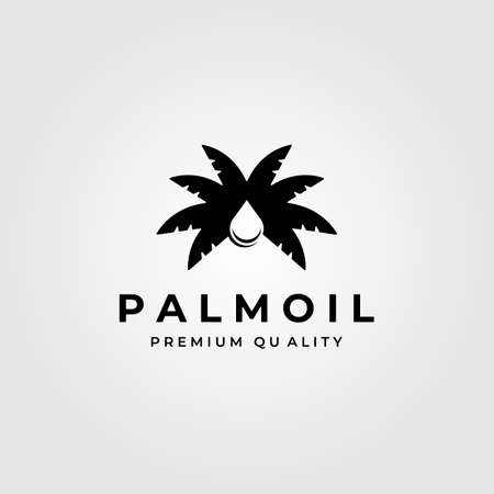 palm oil vintage minimalist logo vector symbol illustration design