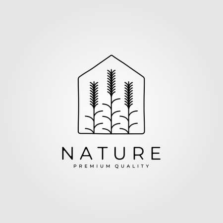 nature wheat plant   in house vector illustration design