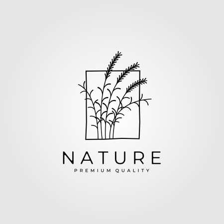 reeds minimalist logo vector vintage illustration design Logó