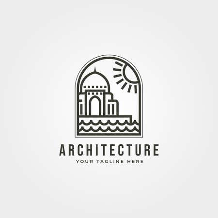 islamic architecture  line art vector icon symbol illustration design Banque d'images - 164282063