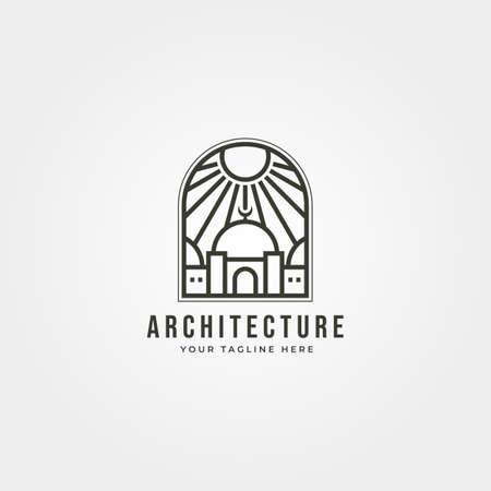 islamic  vector with sunburst icon symbol illustration design