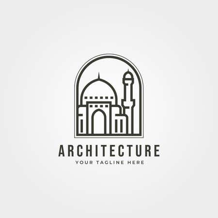mosque icon   vector emblem illustration design