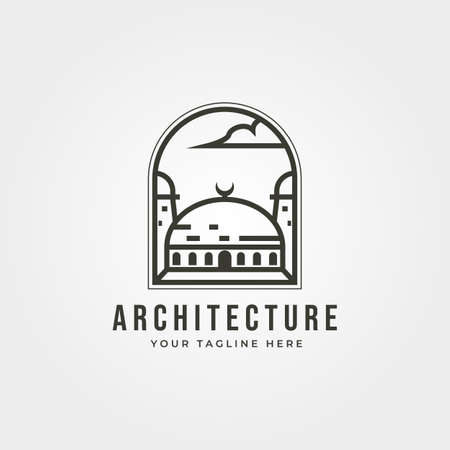 islamic architecture icon  line art vector illustration design Illustration
