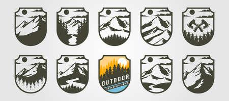 adventure emblem vector mountain illustration design, vintage outdoor Illustration