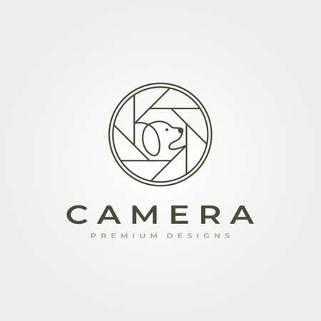 camera lens pet photography vector icon symbol illustration design Illustration