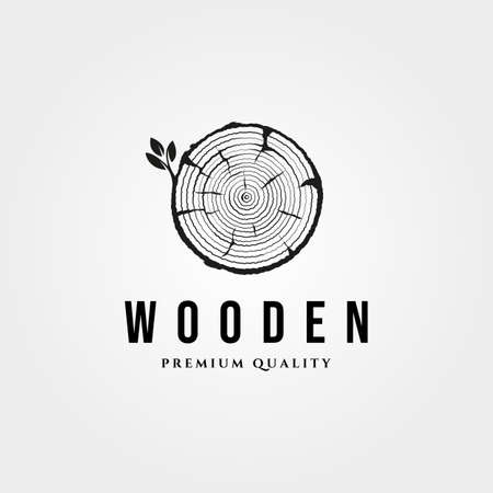 wood texture icon logo vintage vector symbol illustration design