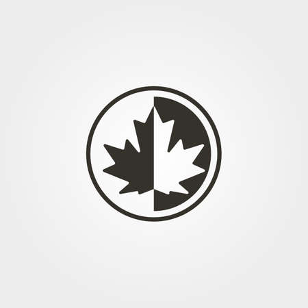 maple leaf icon logo vector canadian silhouette illustration design Illustration