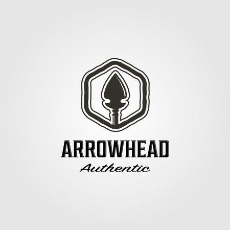 native american arrowhead logo hunt vector illustration design