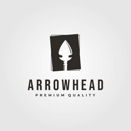 vintage arrowhead logo native america vector symbol illustration design 向量圖像