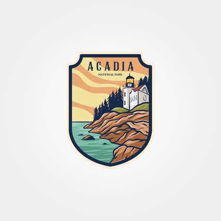 acadia national park  sticker patch vector symbol illustration design 向量圖像