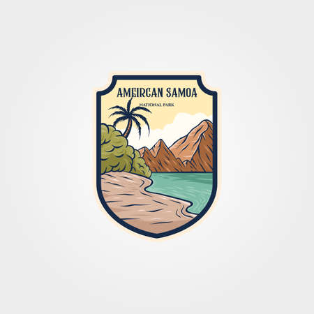 american samoa national park logo sticker patch vector symbol travel illustration design 向量圖像