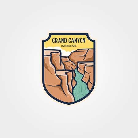grand canyon national park emblem logo vector sticker patch travel symbol illustration design 向量圖像