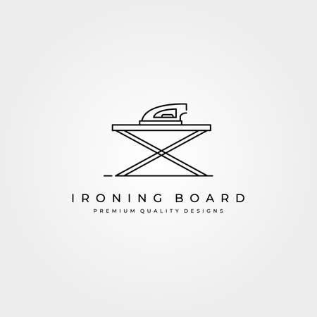 ironing board line logo vector icon minimalist illustration design, ironing clothes logo design 向量圖像