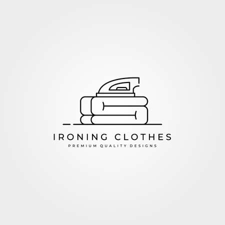 ironing clothes icon vector logo line art minimal illustration design