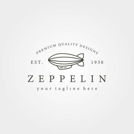 vintage zeppelin airship line icon  vector illustration design 向量圖像