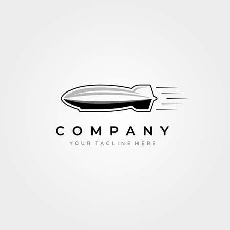 zeppelin airship icon   vector vintage illustration design