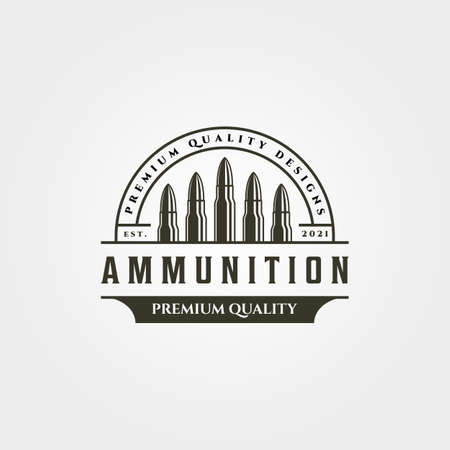 ammunition icon logo vintage vector symbol illustration design