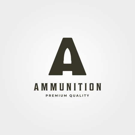 initial letter a bullet logo vector icon symbol minimal illustration design