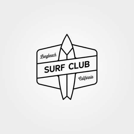 Surf club line icon vector symbol minimal illustration design 向量圖像