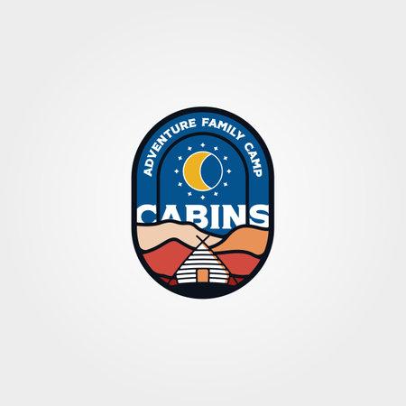 modern cabin emblem logo vector illustration design, cottage logo design