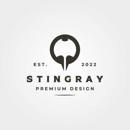 abstract stingray icon logo vector for business company illustration design